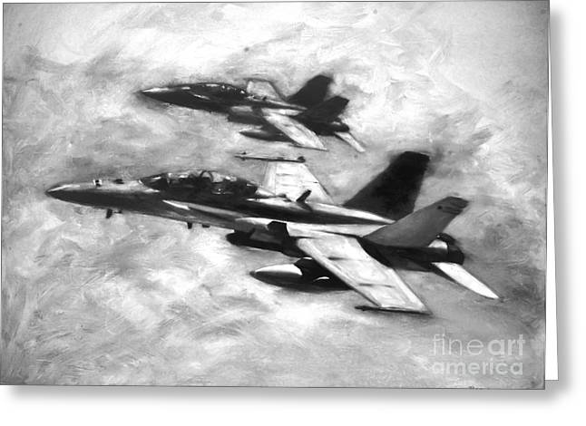 F-18 Greeting Cards - Hornets Greeting Card by Stephen Roberson