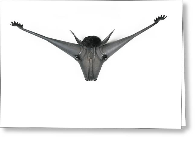 Believe Sculptures Greeting Cards - Horney Greeting Card by Michael Jude Russo