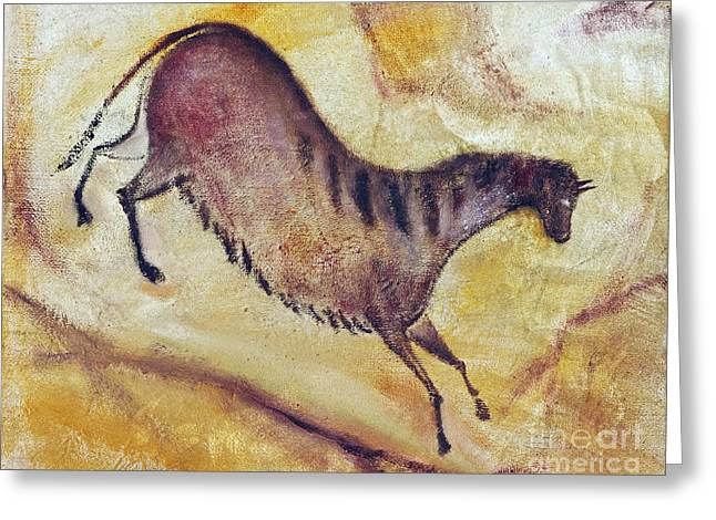 Altamira Greeting Cards - Horse a la Altamira Greeting Card by Michal Boubin