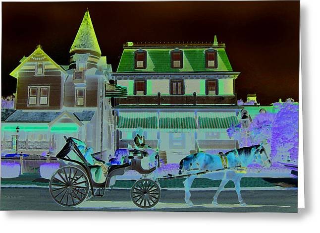 Horse And Buggy Greeting Card by Paul Barlo