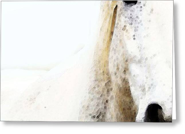 Stable Greeting Cards - Horse Art - Waiting For You  Greeting Card by Sharon Cummings