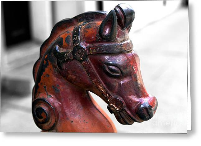 Horse Images Greeting Cards - Horse Head Fusion Greeting Card by John Rizzuto