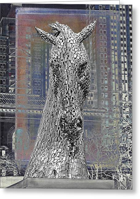 Bryant Greeting Cards - Horse In The City Greeting Card by Alice Gipson