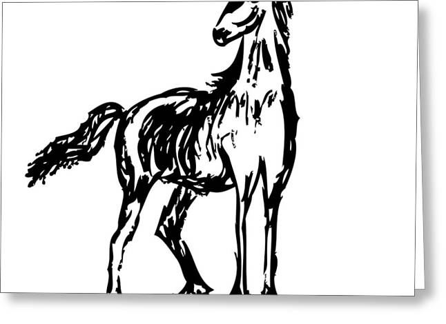 Horse Greeting Card by Karl Addison