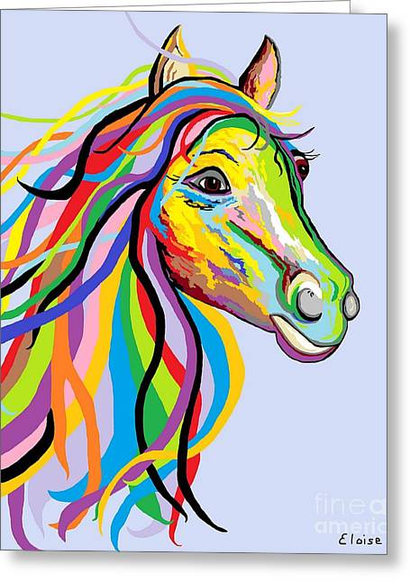 Whimsy Greeting Cards - Horse of a Different Color Greeting Card by Eloise Schneider