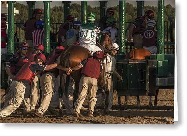 Moving Greeting Cards - Horse Power! Greeting Card by Jan Rauwerdink