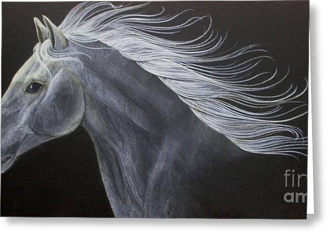Horses Greeting Cards - Horse Greeting Card by Susan Kissinger