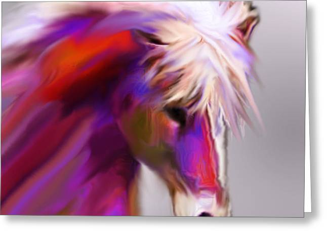 Jackie Flaten Greeting Cards - Horse True Colors Greeting Card by Jackie Flaten