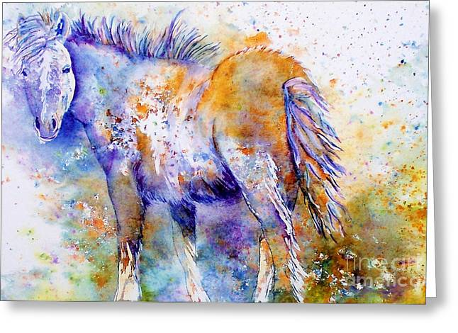 Abstract Equine Greeting Cards - Horse Whisper Greeting Card by Donna Martin