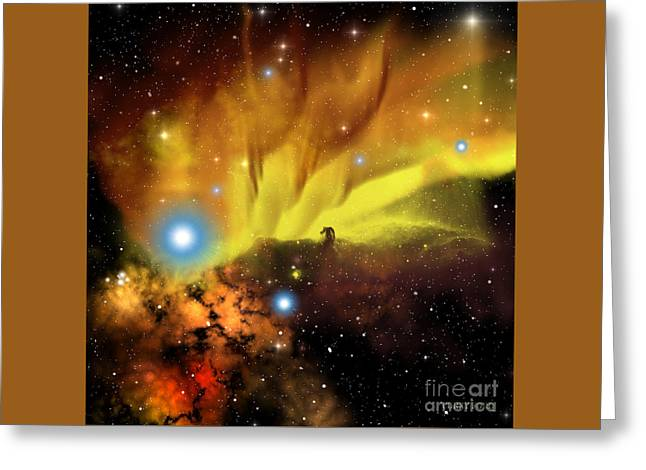 Horsehead Nebula Greeting Card by Corey Ford