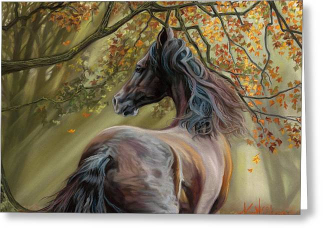 Paso Fino Horse Greeting Cards - Horses of the Four Seasons - Fall Greeting Card by Kim McElroy