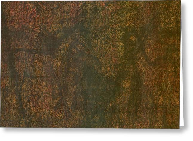 Vibrant Pastels Greeting Cards - Horses Greeting Card by Wojtek Kowalski