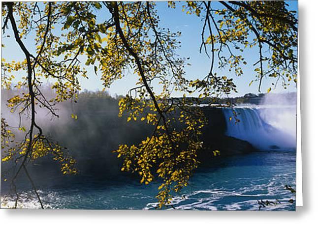Horseshoe Falls Greeting Cards - Horseshoe Falls Niagara Falls Ny Greeting Card by Panoramic Images