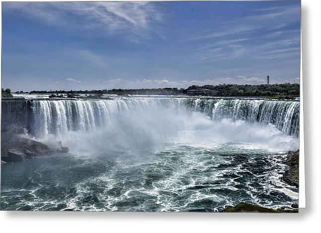 Famous Parks Of The World Photographs Greeting Cards - Horseshoe Falls Greeting Card by Stephen Stookey
