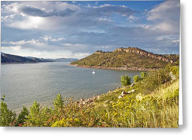 Horsetooth Dam Co Greeting Card by James Steele