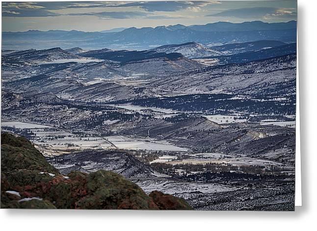 Horsetooth Mountain View Greeting Card by Paki O'Meara