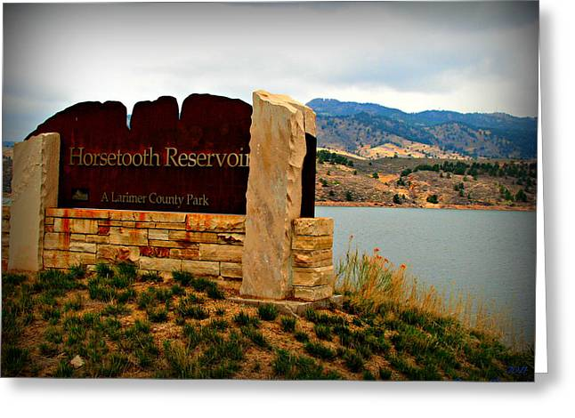 Horsetooth Reservoir Greeting Cards - Horsetooth Peak above the Reservoir Greeting Card by Aaron Burrows