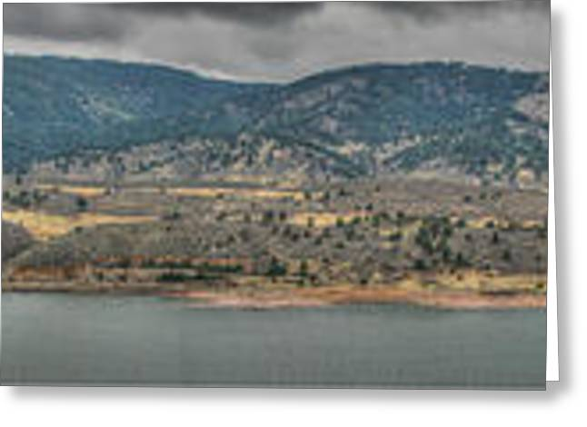 Horsetooth Reservoir Greeting Cards - Horsetooth Reservoir Panoramic HDR Greeting Card by Aaron Burrows