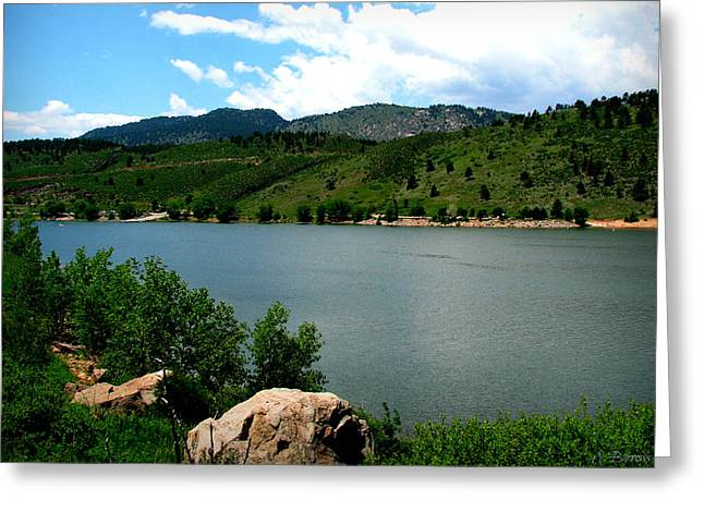 Fort Collins Photographs Greeting Cards - Horsetooth Reservoir Summer Greeting Card by Aaron Burrows