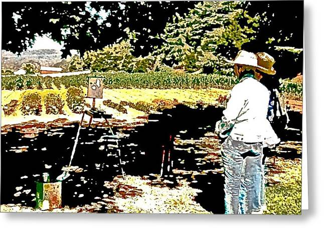 Recently Sold -  - ist Photographs Greeting Cards - Horticulture en Plein Air td1 Greeting Card by Scott L Holtslander