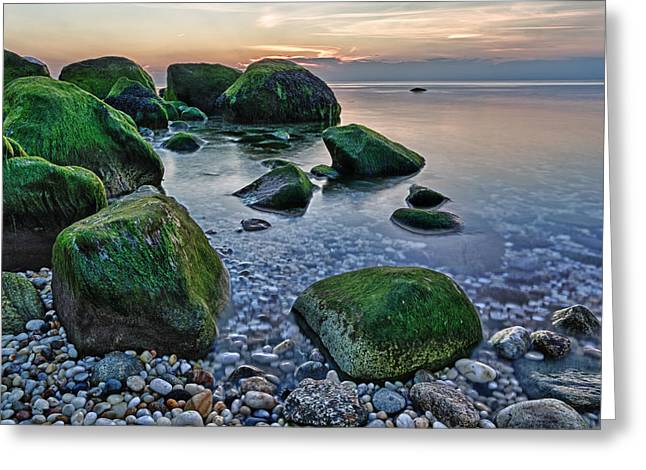 Long Island Sound Greeting Cards - Horton Point NY at Sunset Greeting Card by Rick Berk
