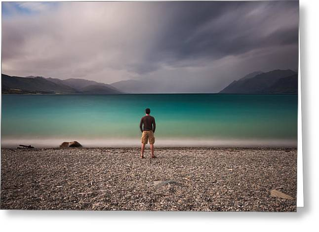 Self-portrait Photographs Greeting Cards - hose Who Have Not Seen Darkness Cannot See Light Greeting Card by Andre Distel