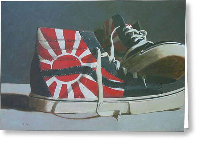 Hosoi Vans Greeting Card by John Holdway