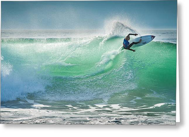 D700 Photographs Greeting Cards - Hossegor Pro 2013 Greeting Card by Arnaud Beau