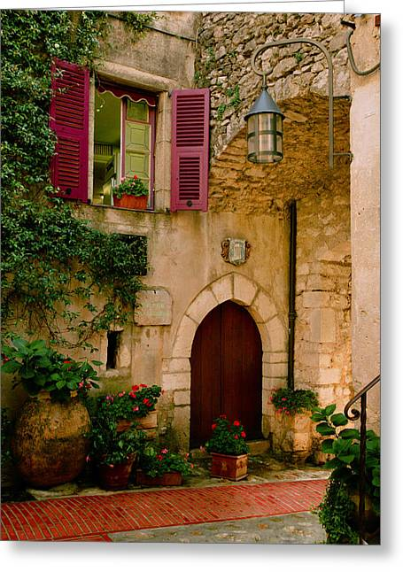 France Doors Digital Art Greeting Cards - Hostelliere Greeting Card by John Galbo