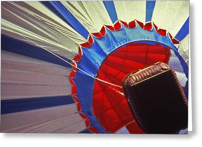Hot Air Balloon - 1 Greeting Card by Randy Muir
