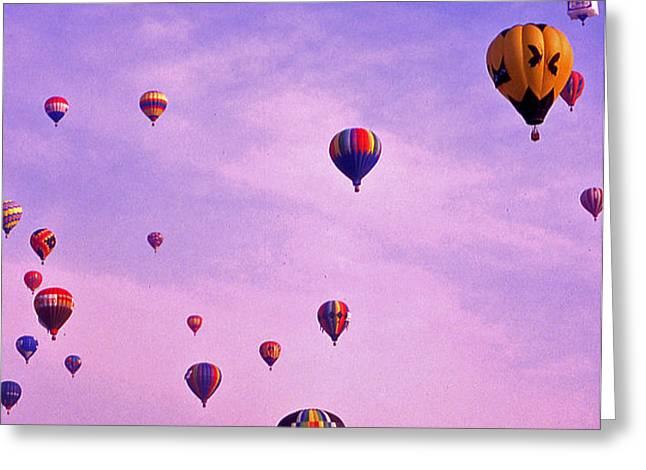 Hot Air Balloon - 13 Greeting Card by Randy Muir