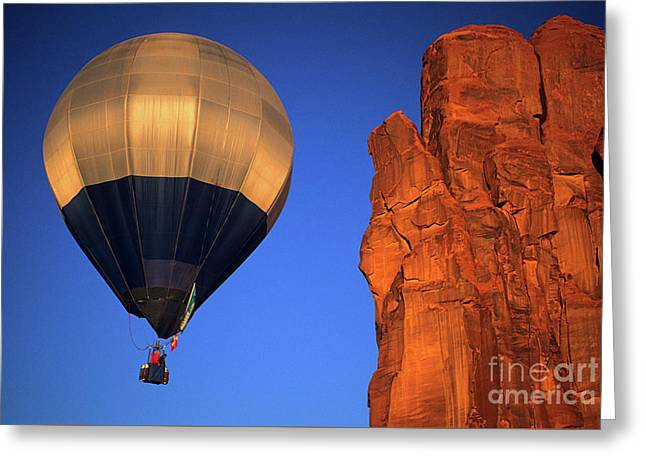 Canadian Photographer Greeting Cards - Hot Air Balloon Monument Valley 2 Greeting Card by Bob Christopher