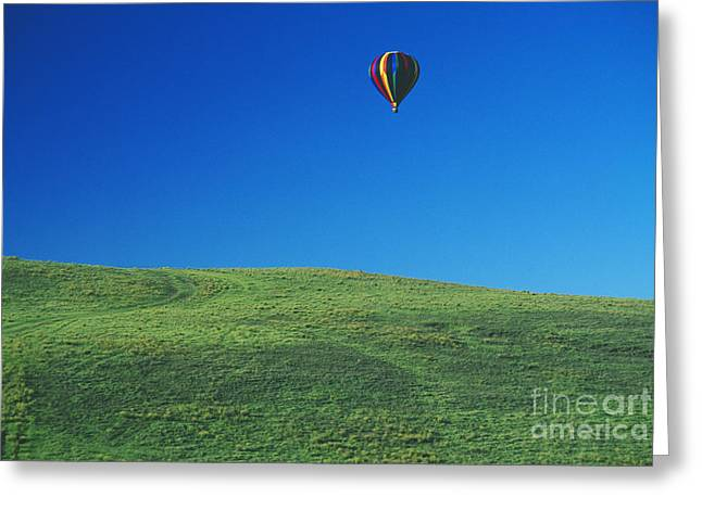 Hot Air Balloon In Hawaii Greeting Card by Peter French - Printscapes