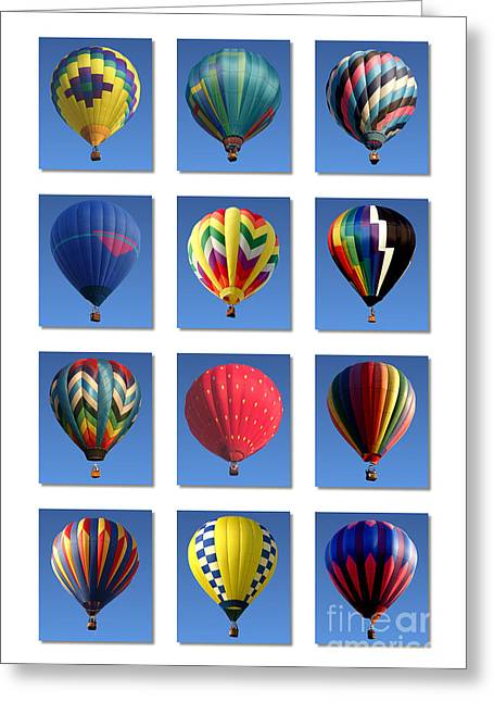 Hot Air Balloon Poster Greeting Card by Olivier Le Queinec
