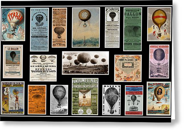 Recently Sold -  - Helium Greeting Cards - Hot Air Balloon Posters Greeting Card by Andrew Fare
