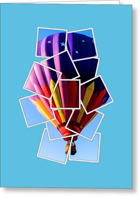 Tees Greeting Cards - Hot Air Balloon Tee Greeting Card by Edward Fielding