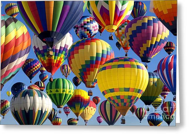 Amusements Greeting Cards - Hot Air Ballooning 2 Greeting Card by Anthony Totah
