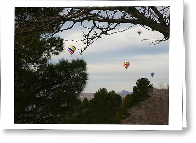 Las Cruces Photograph Greeting Cards - Hot Air Balloons over Las Cruces Greeting Card by Jack Pumphrey
