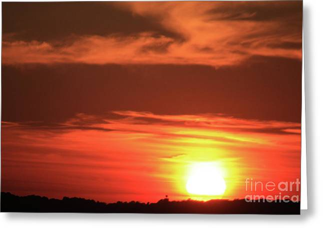 Newengland Greeting Cards - Hot August Night Greeting Card by Karol  Livote
