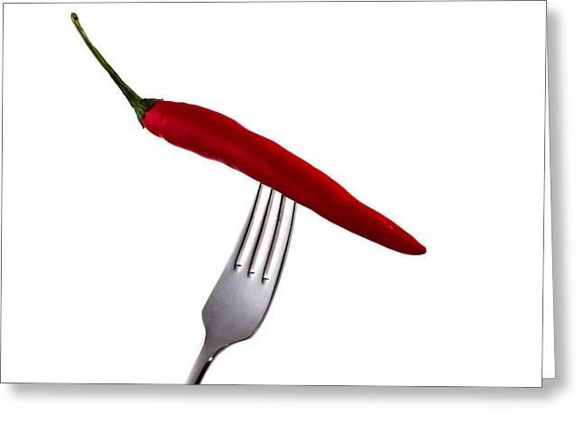 Chilli Greeting Cards - Hot Bite Greeting Card by Gert Lavsen