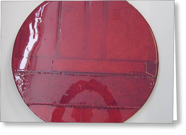 Abstract Reliefs Greeting Cards - Hot Burgandy Greeting Card by Patterson Parkin