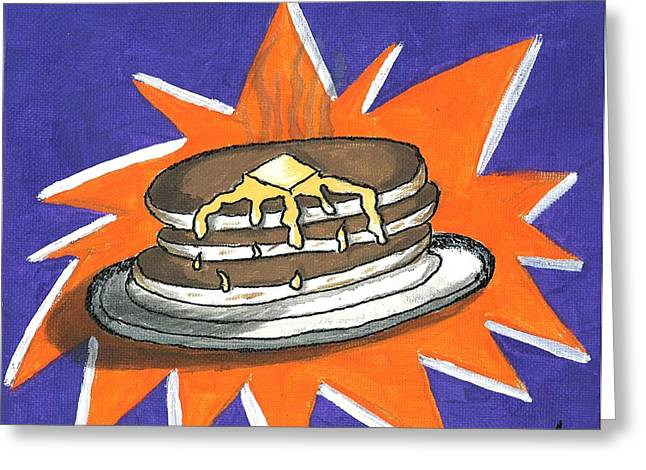 Pancakes Greeting Cards - Hot Cakes Greeting Card by Rob  Parker