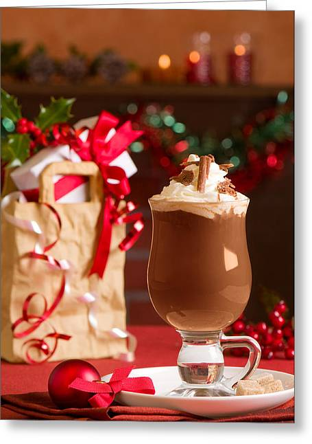 Tinsel Greeting Cards - Hot Chcolate Drink Greeting Card by Amanda And Christopher Elwell