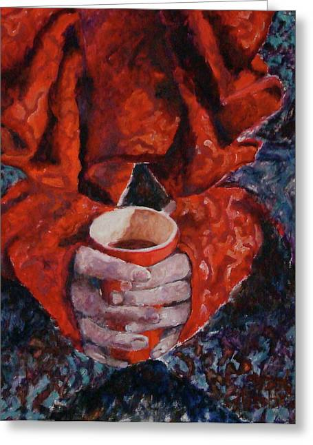 Hot Chocolate Greeting Card by Elisabeth De Vries