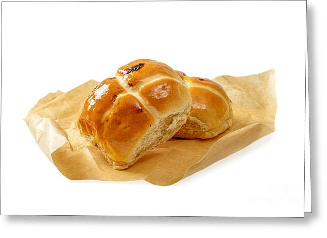Bun Photographs Greeting Cards - Hot Cross Buns Greeting Card by Amanda And Christopher Elwell