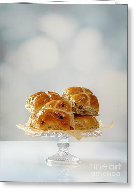 Bun Photographs Greeting Cards - Hot Cross Buns Display Greeting Card by Amanda And Christopher Elwell