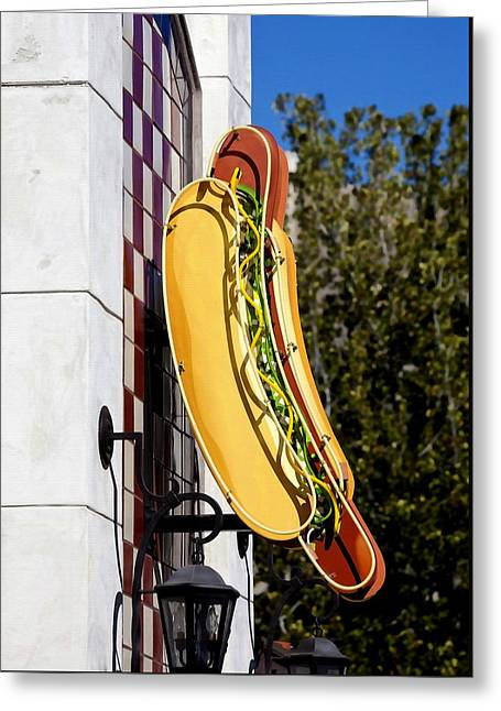 Hot Dogs Greeting Card by Art Block Collections