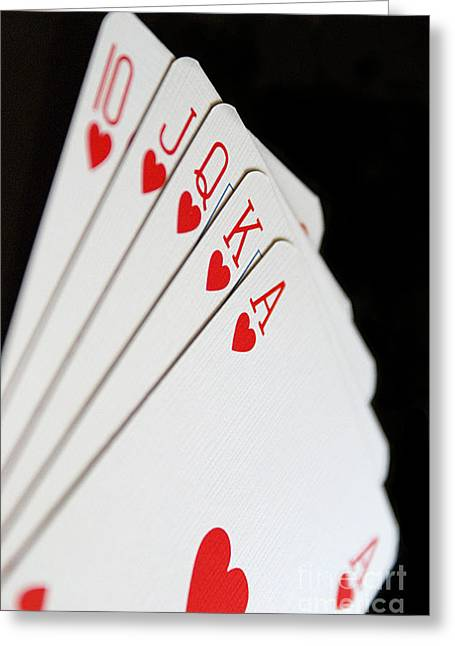 Playing Cards Greeting Cards - Hot Flush Greeting Card by Brian Raggatt