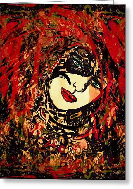 Hot Lips Greeting Card by Natalie Holland