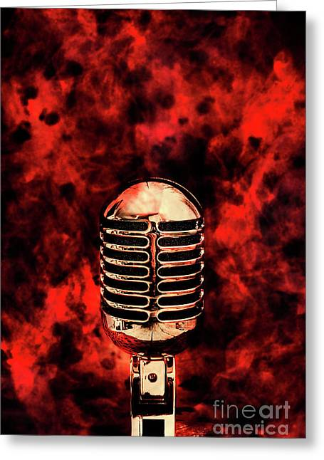 Hot Live Show Greeting Card by Jorgo Photography - Wall Art Gallery